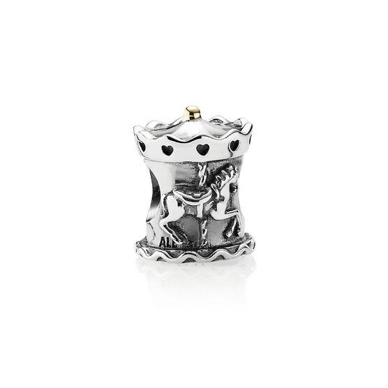 PANDORA Carousel Charm, Silver & 14K