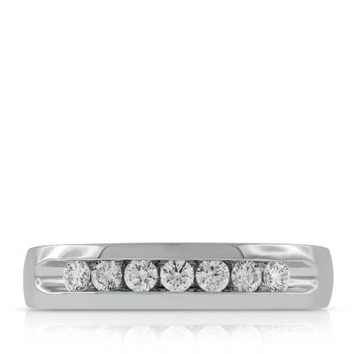 Men's Channel Set Diamond Band 14K, 1/2 ctw.