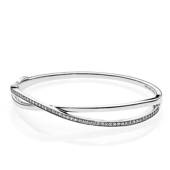 PANDORA Entwined CZ Bangle