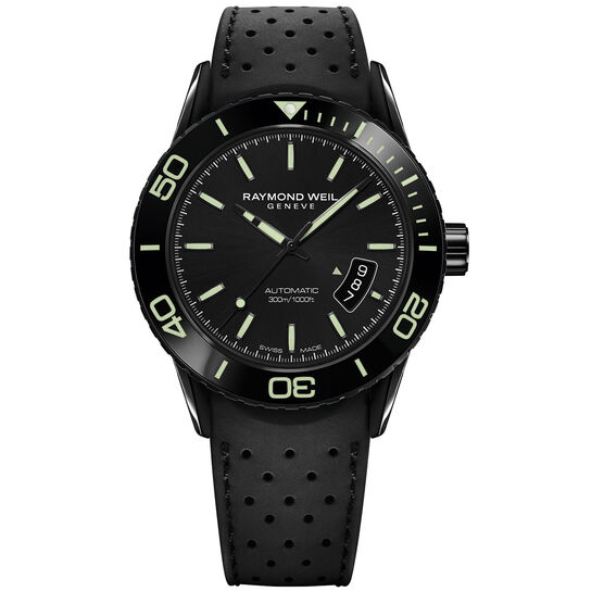 Raymond Weil Freelancer Green Accent Dive Watch