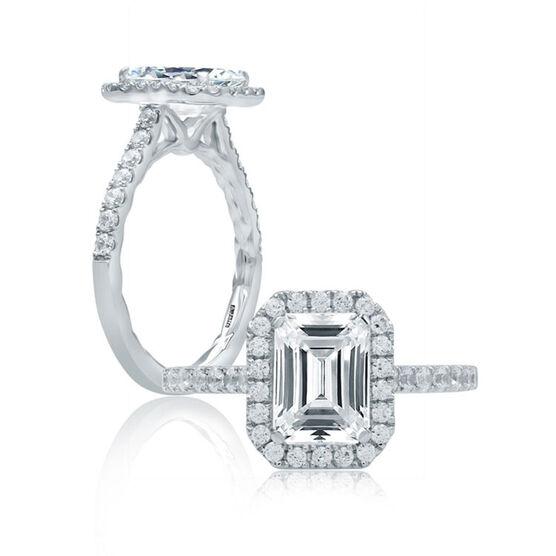 A. JAFFE Diamond Semi-Mount Ring