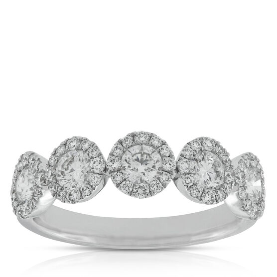 Halo Diamond Band, 1 ctw. 14K