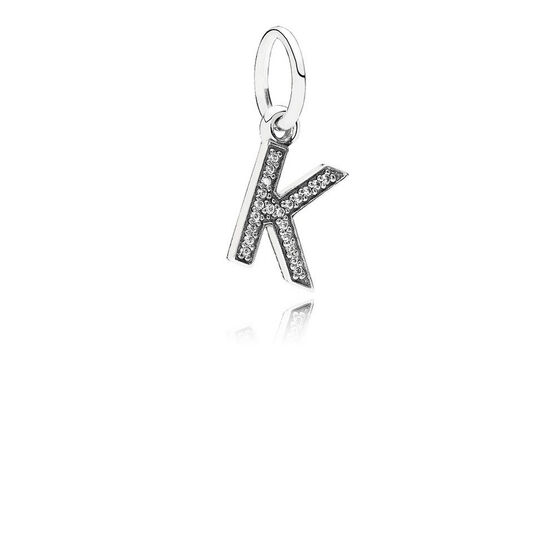 PANDORA CZ Dangle 'K' Charm