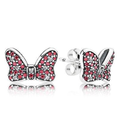 PANDORA Disney Minnie's Sparkling Bow Earrings