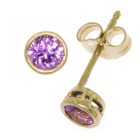 Pink Sapphire Earrings 14K