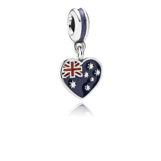 PANDORA Australian Heart Flag Charm