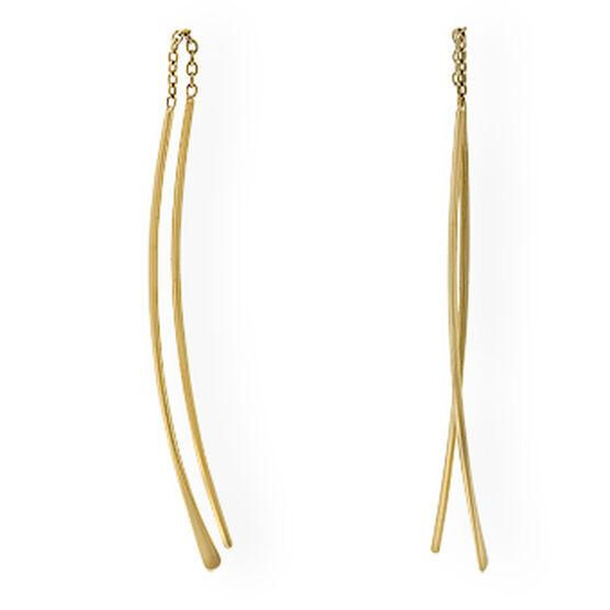 Curved Threader Earrings 14K