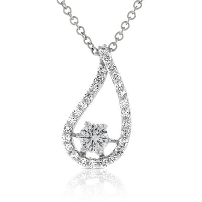 Signature Forevermark Diamond Drop Pendant 18K