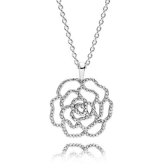 PANDORA Shimmering Rose Pendant