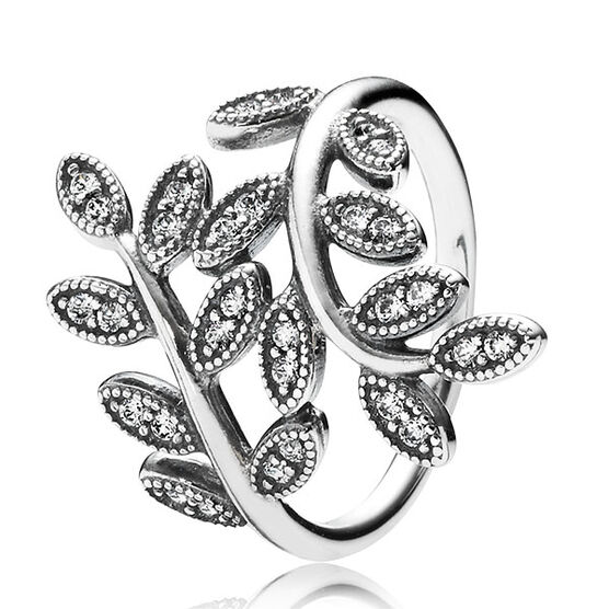 PANDORA Sparkling Leaves Ring