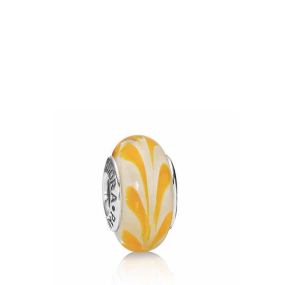 PANDORA Yellow Swirly Swirl Charm RETIRED
