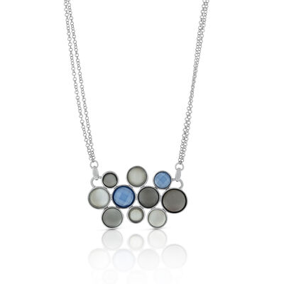 Lisa Bridge Moonstone & Chalcedony Bubble Necklace