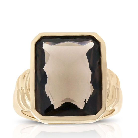 Smoky Quartz Ring 14K