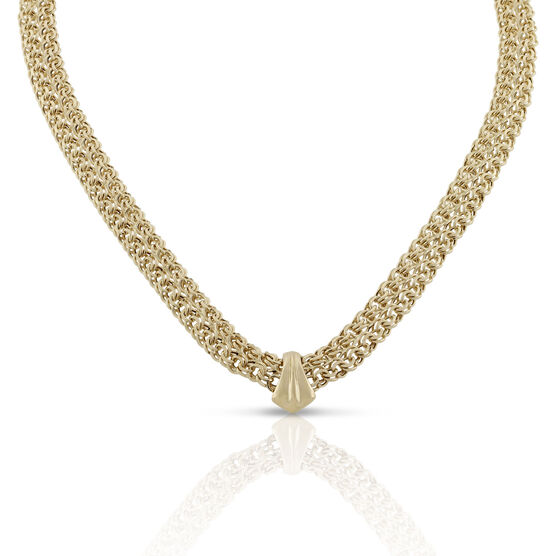 Toscano Bombay Chevron Necklace 18K