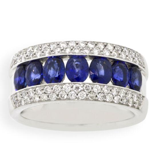 Diamond & Sapphire Ring 14K