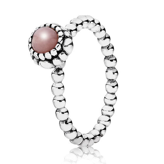 PANDORA Birthday Blooms October Ring