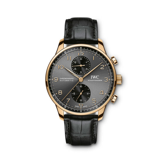 IWC Portugieser Chronograph Watch 18K Rose Gold