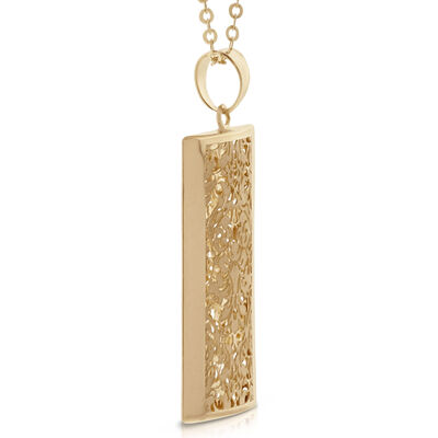 Toscano Rectangle Pendant 14K