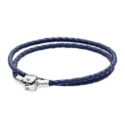 PANDORA BLUE LEATHER CLASP BRACELET