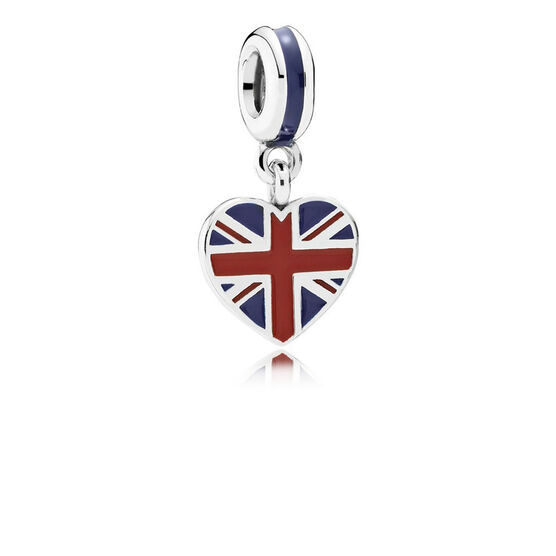 PANDORA Great Britain Heart Flag Charm