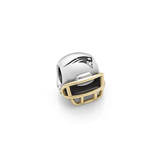 PANDORA New England Patriots NFL Helmet, Silver & 14K