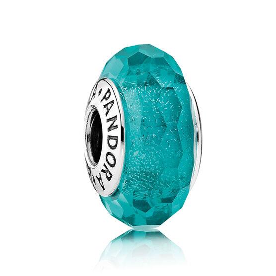 PANDORA Teal Shimmer Glass Charm