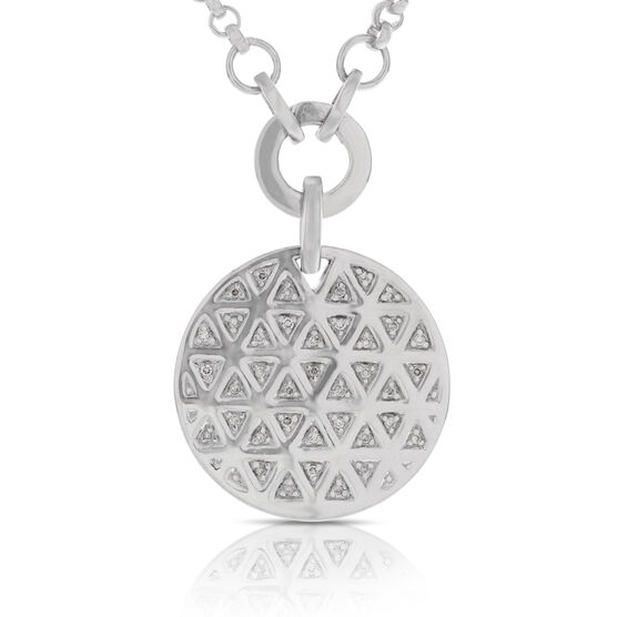 Diamond Circle Necklace in Sterling Silver