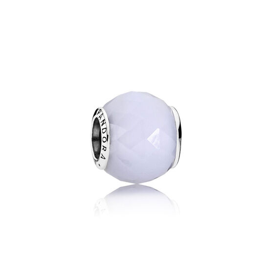 PANDORA White Geometric Facets Charm