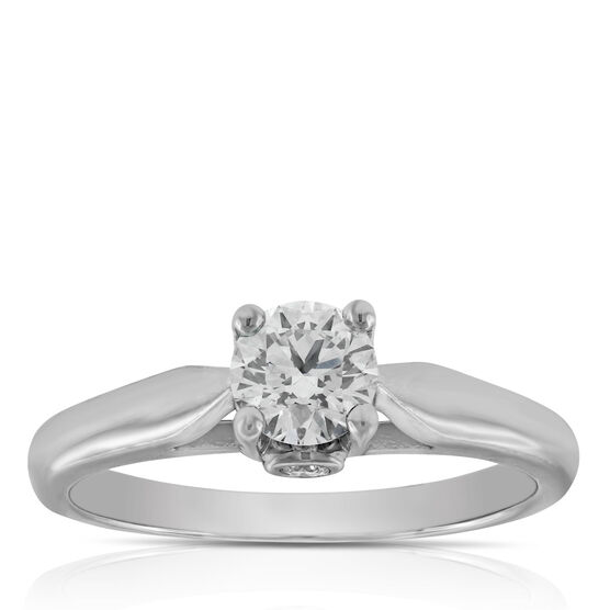Ikuma Canadian Diamond Solitaire Ring 14K, 1/2 ct.