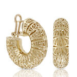 Toscano San Marco Hoop Earrings 18K