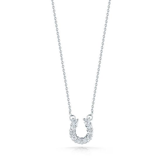 Roberto Coin Diamond Horseshoe Necklace 18K
