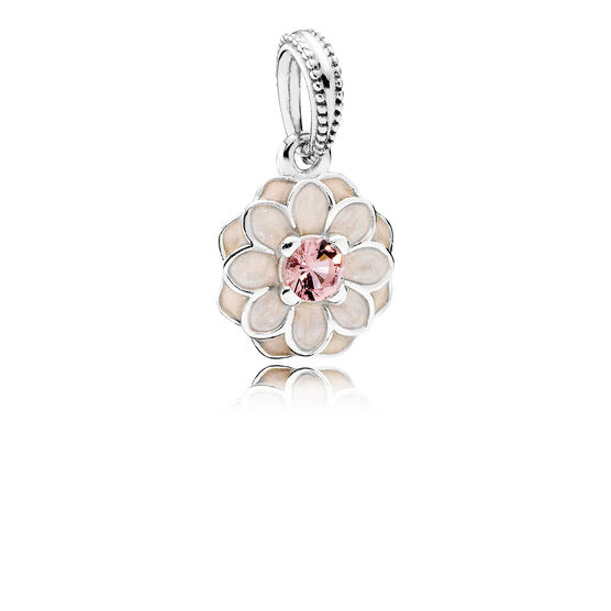 PANDORA Cream Blooming Dahlia Dangle Charm