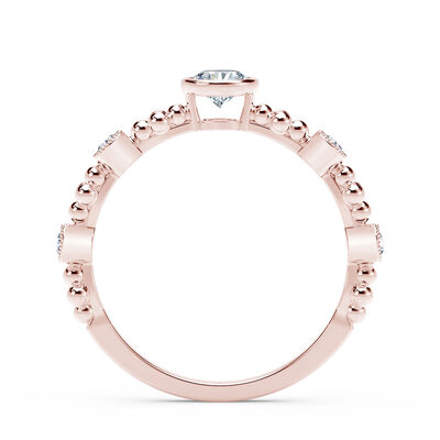 The Forevermark Tribute™ Collection Feminine Diamond Ring, 18K Rose Gold