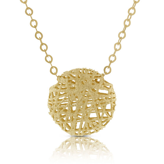 Toscano Collection Domed Microfusion Necklace 14K