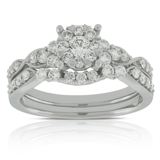Love Bright Diamond Wedding Set 14K