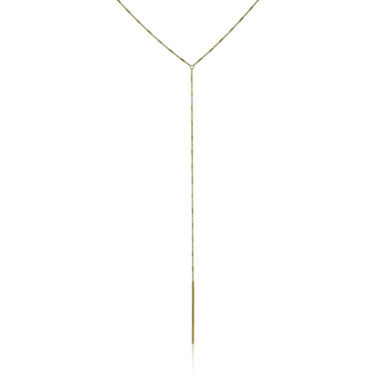 Drop 'Y' Necklace 14K