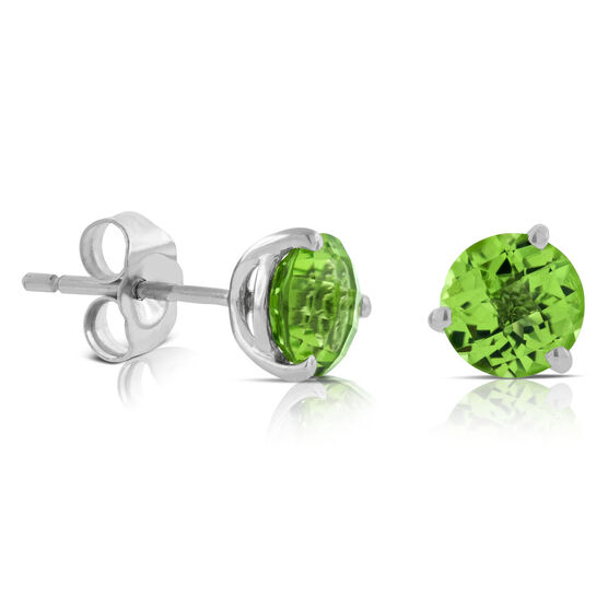 Peridot Earrings 14K