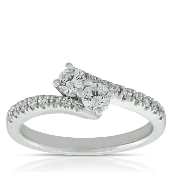 Perfectly Paired Diamond Ring, 14K, .46 CTW