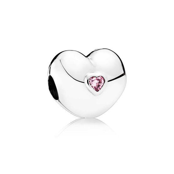 PANDORA Steady Heart CZ Clip