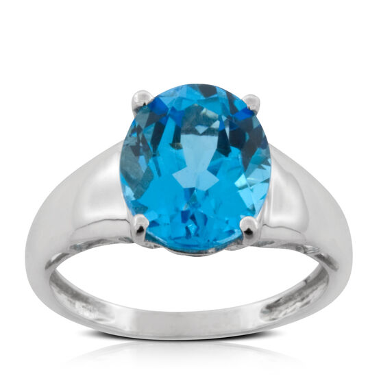 Blue Topaz Ring 14K