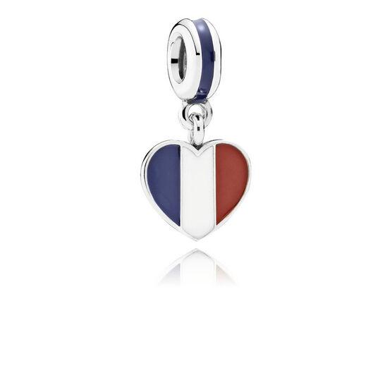 PANDORA France Heart Flag Charm