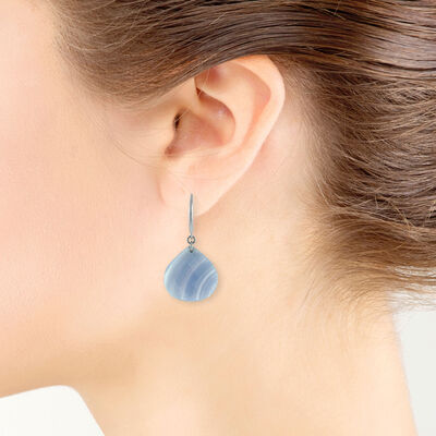 Lisa Bridge Blue Lace Agate Earrings