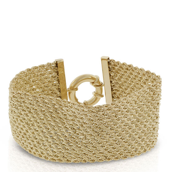 Toscano Collection Woven Rope Bracelet 18K