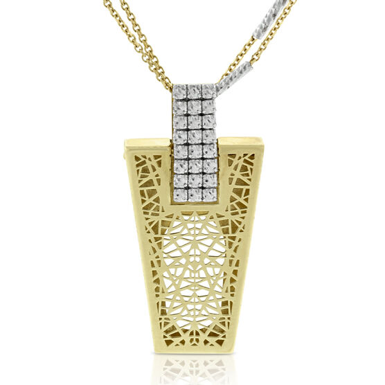 Toscano Collection Webbed Pendant 14K