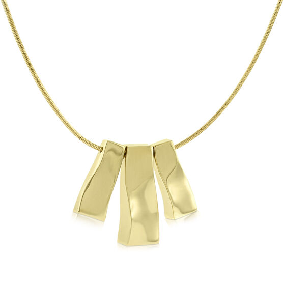 Toscano Collection Bar Necklace 14K