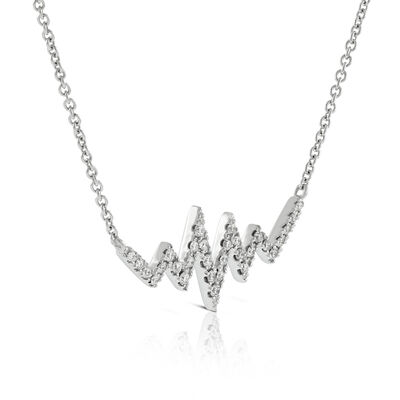 Diamond Heartbeat Necklace 14K