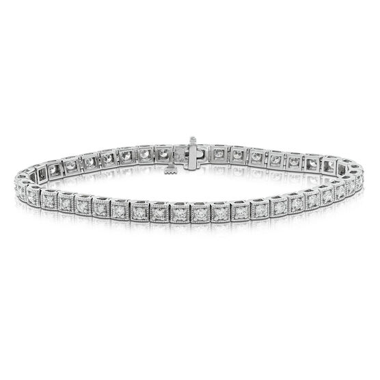 Box Link Diamond Bracelet 14K