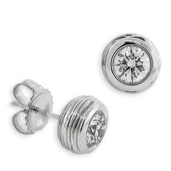 Forevermark Diamond Bezel Earrings 14K, 1 ctw.