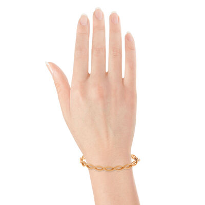 Rose Gold Roberto Coin Barocco Bangle 18K