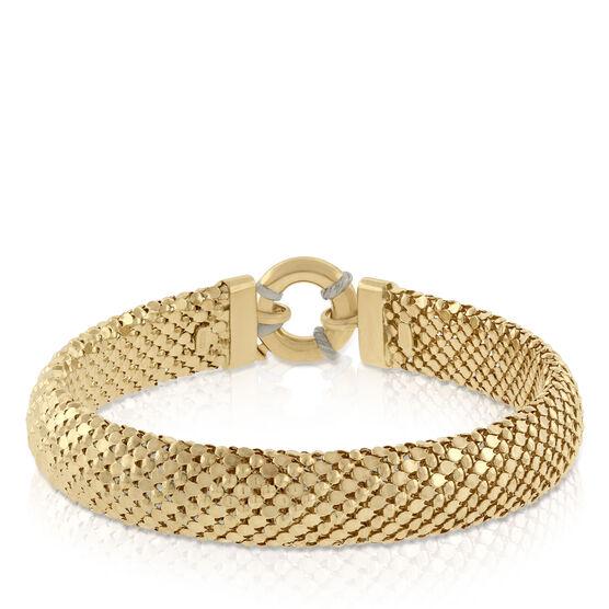 Toscano Collection Golden Weave Bracelet 18K